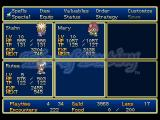 Tales of Destiny PlayStation Main party management menu