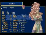 Tales of Destiny PlayStation Individual status screen. This party member seems... interesting