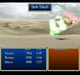 Tales of Destiny PlayStation Executing Spin Slash, an early, yet very effective move