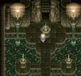 Tales of Destiny PlayStation A seriously-looking castle dungeon. Check the colors!..