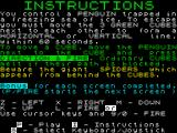 Ice Attack ZX Spectrum Instructions