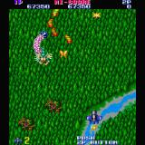 Gemini Wing Sharp X68000 Stage 2, a creature called Bringer comes onto the screen trailing Gunball weapons behind it