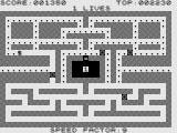 Zac-Man ZX81 Clearing the maze.