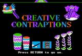 Creative Contraptions Apple II Title screen