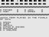 Test Your Knowledge of World Cup Football ZX81 The answer?