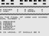 Test Your Knowledge of World Cup Football ZX81 Wrong answer.