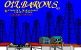 Oil Barons Amiga Title screen