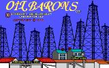 Oil Barons DOS Title screen