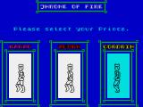 Throne of Fire ZX Spectrum Select prince