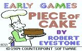 Piece of Cake Commodore 64 Title screen