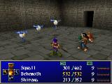 Wild Arms 2 PlayStation Still in the first quarter of the game - full formation, regular dungeon battle, menu displayed