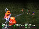 Wild Arms 2 PlayStation We cast a thunder spell on the enemies. They don't seem to like it