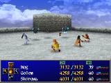 Wild Arms 2 PlayStation Battle in the ruins of an ancient town