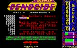 Mission Genocide Atari ST High-score table