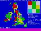 Apocalypse ZX Spectrum Territories on map with player's icons