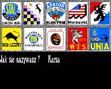 Speedway Manager Amiga Choose team and enter Your name