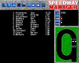 Speedway Manager Amiga Riders stats