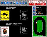 Speedway Manager Amiga Race in progress
