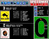 Speedway Manager Amiga Last run results