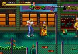 Streets of Rage 2 Arcade Wrecking the scenery.