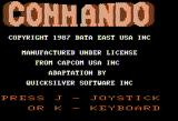 Commando Apple II Title screen
