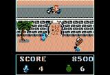Commando Apple II Biker dude drops grenades off the bridge