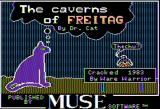 The Caverns of Freitag Apple II Title screen (somewhat defaced)