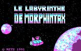 Le Labyrinthe de Morphintax DOS Title Screen