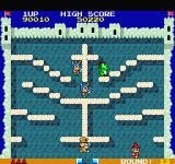 The Fairyland Story Sharp X68000 There's a cross here plus a pope is after me... hmmm