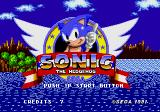 Sonic the Hedgehog Arcade Title Screen.