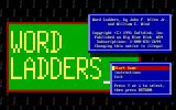 Word Ladders DOS Main menu
