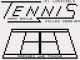 Tennis ZX81 Title screen