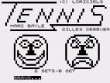 Tennis ZX81 All the emotions of the sport! Player 1 wins