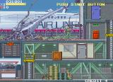 Elevator Action 2 Arcade At the beginning of stage 2, the player's copter crashed into it.