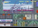 Elevator Action 2 SEGA Saturn At the beginning of the second stage, the player's helicopter crashed into it.