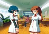 Routes PE PlayStation 2 In school cafeteria with Yukari and Satsuki