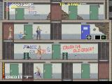 Elevator Action 2 SEGA Saturn Items on the right and enemies in the back (on the left)
