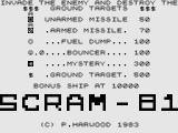Scram - 81 ZX81 Title Screen.