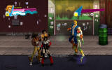 Double Dragon Neon Windows Fighting four enemies at once.