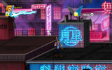 Double Dragon Neon Windows On the roofs carrying a baseball bat.