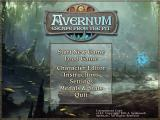 Avernum: Escape From the Pit Windows Main menu screen.