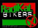 Radikal Bikers Arcade Title Screen.