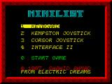 Nihilist ZX Spectrum Main menu