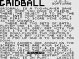 Games II ZX81 Gridball: Title Screen.