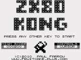 ZX80 Kong ZX80 Title screen