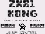 ZX80 Kong ZX81 Title screen