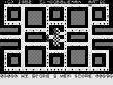Gobbleman ZX81 Clearing the maze.