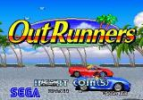 OutRunners Arcade Title Screen.