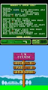 NES Open Tournament Golf Arcade The first hole.