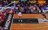 NBA Jam Tournament Edition Arcade Trying to defend.